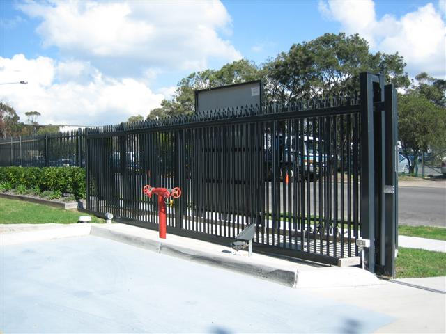 Diplomat Security Fencing with Sliding Gate
