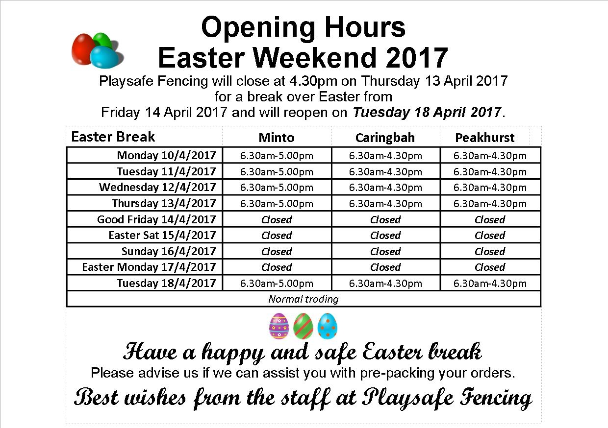 Forex trading hours easter 2017