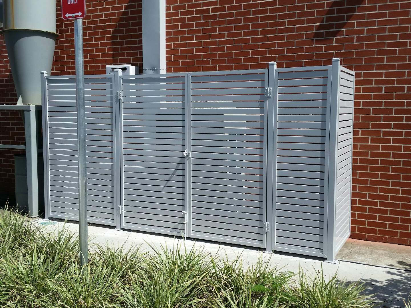 Utility Screen Slats Gull Grey